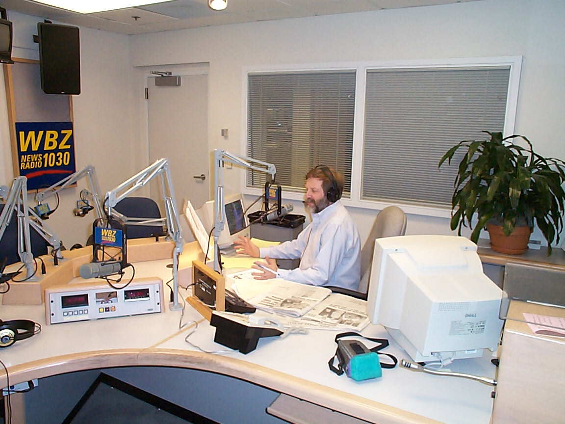 Steve in WBZ's Talk Studio